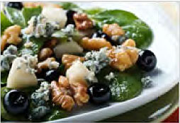 Blueberry Gorgonzola Walnut Salad